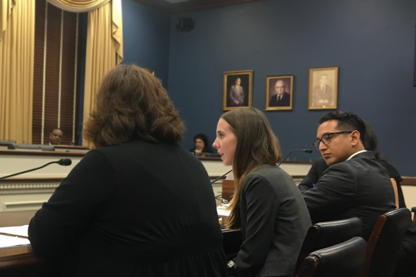 Taylor Peake testifies at Congress